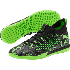 Thumbnail 2 of FUTURE 19.3 NETFIT IT Men's Soccer Shoes, Black-Gray-Green Gecko, medium