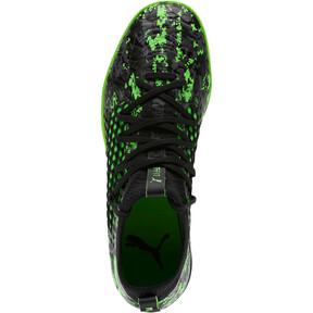 Thumbnail 5 of FUTURE 19.3 NETFIT IT Men's Soccer Shoes, Black-Gray-Green Gecko, medium