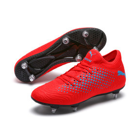 Thumbnail 2 of FUTURE 19.4 SG Men's Football Boots, Red Blast-Bleu Azur, medium