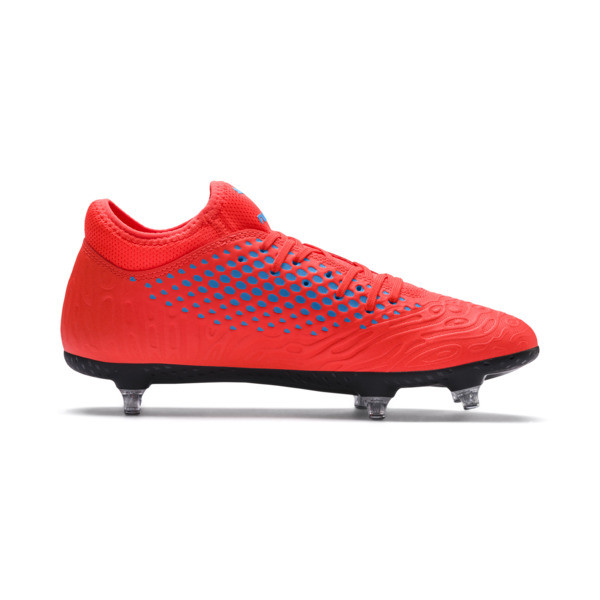 FUTURE 19.4 SG Men's Football Boots, Red Blast-Bleu Azur, large