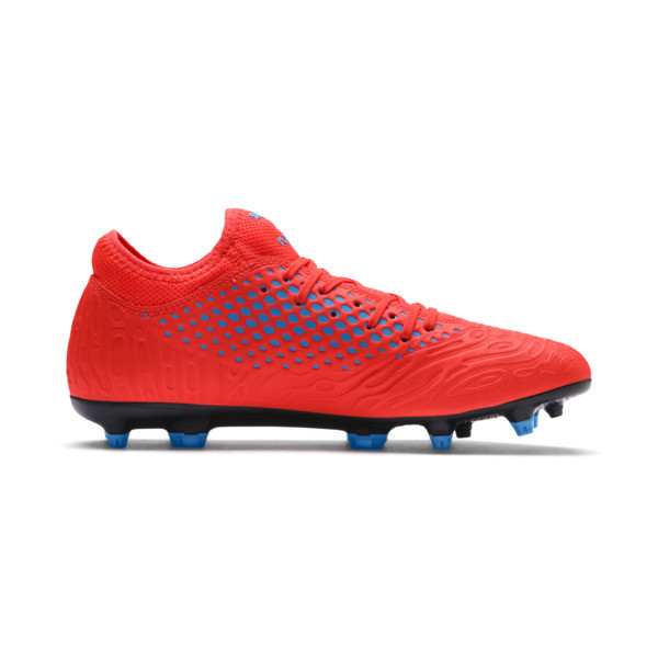 FUTURE 19.4 FG/AG Men's Football Boots, Red Blast-Bleu Azur, large