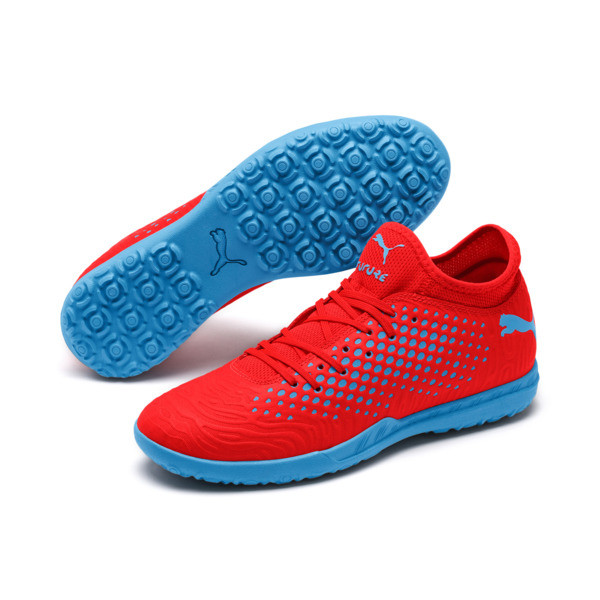 FUTURE 19.4 TT Men's Football Boots, Red Blast-Bleu Azur, large