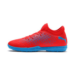 Thumbnail 1 of FUTURE 19.4 TT Men's Football Boots, Red Blast-Bleu Azur, medium