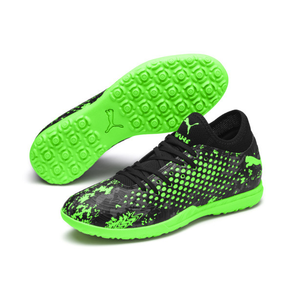 FUTURE 19.4 TT Men's Football Boots, Black-Gray-Green Gecko, large