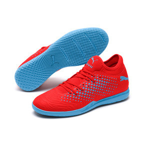 Thumbnail 3 of Chaussure de foot FUTURE 19.4 IT pour homme, Red Blast-Bleu Azur, medium