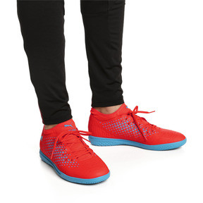 Thumbnail 2 of Chaussure de foot FUTURE 19.4 IT pour homme, Red Blast-Bleu Azur, medium