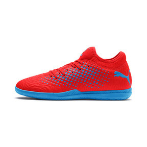 Thumbnail 1 of Chaussure de foot FUTURE 19.4 IT pour homme, Red Blast-Bleu Azur, medium