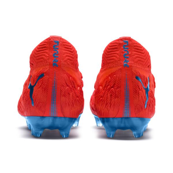 FUTURE 19.1 NETFIT FG/AG Soccer Cleats JR, Red Blast-Bleu Azur, large