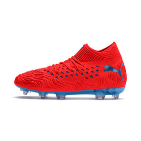 Thumbnail 1 of FUTURE 19.1 NETFIT FG/AG Youth Football Boots, Red Blast-Bleu Azur, medium
