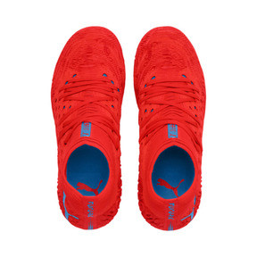 Thumbnail 6 of FUTURE 19.1 NETFIT FG/AG Youth Football Boots, Red Blast-Bleu Azur, medium