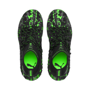 Thumbnail 6 of Chaussure de foot FUTURE 19.1 NETFIT FG/AG pour enfant, Black-Gray-Green Gecko, medium