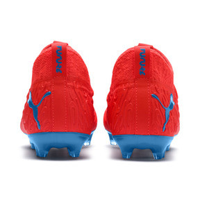 Thumbnail 3 of FUTURE 19.3 NETFIT FG/AG Youth Football Boots, Red Blast-Bleu Azur, medium