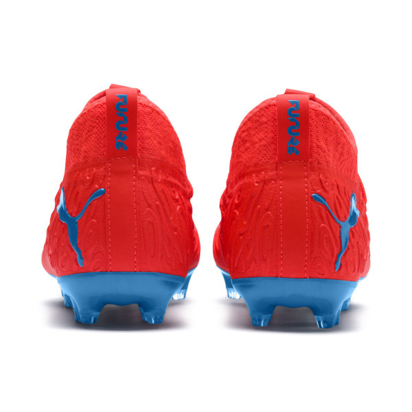 FUTURE 19.3 NETFIT FG/AG Soccer Cleats JR, Red Blast-Bleu Azur, large