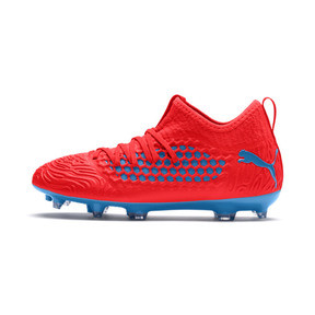 Thumbnail 1 of FUTURE 19.3 NETFIT FG/AG Youth Football Boots, Red Blast-Bleu Azur, medium