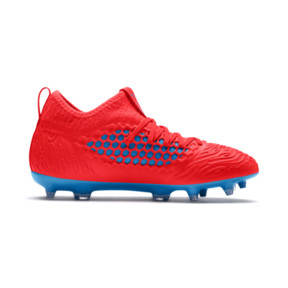 Thumbnail 5 of FUTURE 19.3 NETFIT FG/AG Youth Football Boots, Red Blast-Bleu Azur, medium