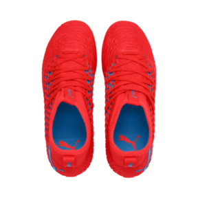 Thumbnail 6 of FUTURE 19.3 NETFIT FG/AG Youth Football Boots, Red Blast-Bleu Azur, medium