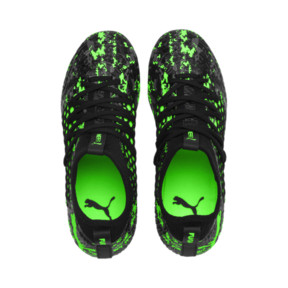Thumbnail 6 of Chaussure de foot FUTURE 19.3 NETFIT FG/AG pour enfant, Black-Gray-Green Gecko, medium
