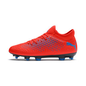 Thumbnail 1 of FUTURE 19.4 FG/AG Youth Football Boots, Red Blast-Bleu Azur, medium