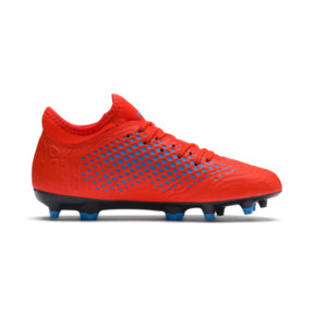 Thumbnail 5 of FUTURE 19.4 FG/AG Youth Football Boots, Red Blast-Bleu Azur, medium