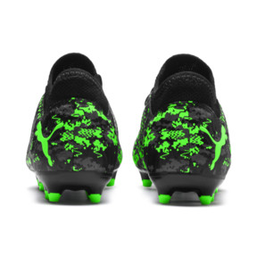 Thumbnail 3 of FUTURE 19.4 FG/AG Youth Football Boots, Black-Gray-Green Gecko, medium
