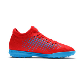Thumbnail 5 of Chaussure de football FUTURE 19.4 TT Youth, Red Blast-Bleu Azur, medium