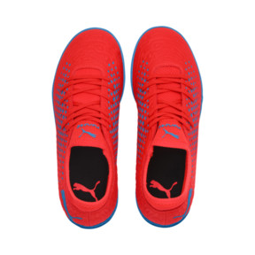 Thumbnail 6 of Chaussure de football FUTURE 19.4 TT Youth, Red Blast-Bleu Azur, medium