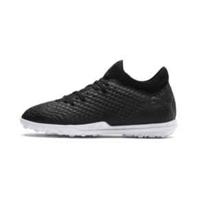 Thumbnail 1 of FUTURE 19.4 TT Soccer Shoes JR, Puma Black-Puma Black-White, medium