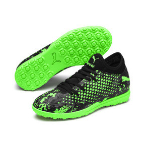 Thumbnail 2 of FUTURE 19.4 TT Youth Football Boots, Black-Gray-Green Gecko, medium