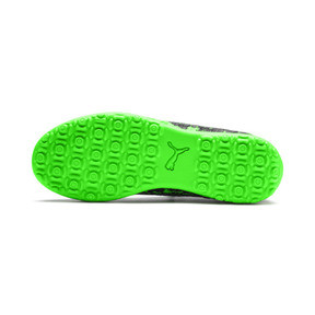 Thumbnail 4 of FUTURE 19.4 TT Soccer Shoes JR, Black-Gray-Green Gecko, medium