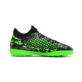 Thumbnail 5 of FUTURE 19.4 TT Youth Football Boots, Black-Gray-Green Gecko, medium