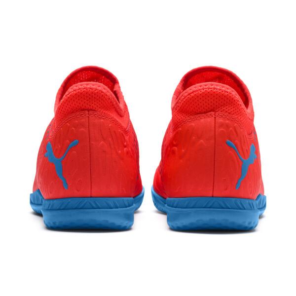 FUTURE 19.4 IT Soccer Cleats JR, Red Blast-Bleu Azur, large