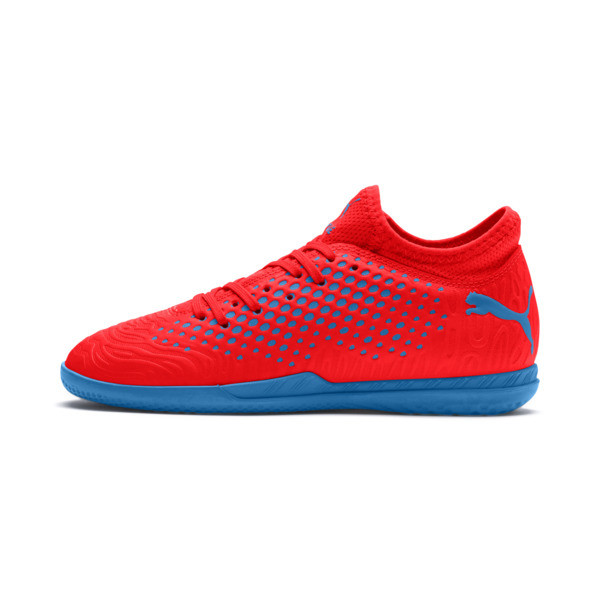 FUTURE 19.4 IT Kinder Fußballschuhe, Red Blast-Bleu Azur, large