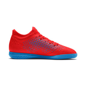 Thumbnail 5 of FUTURE 19.4 IT Boys' Football Boots, Red Blast-Bleu Azur, medium