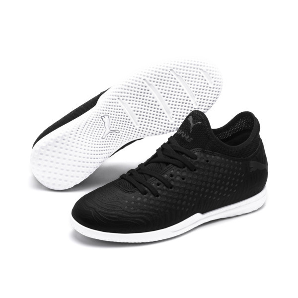 FUTURE 19.4 IT Soccer Shoes JR, Puma Black-Puma Black-White, large