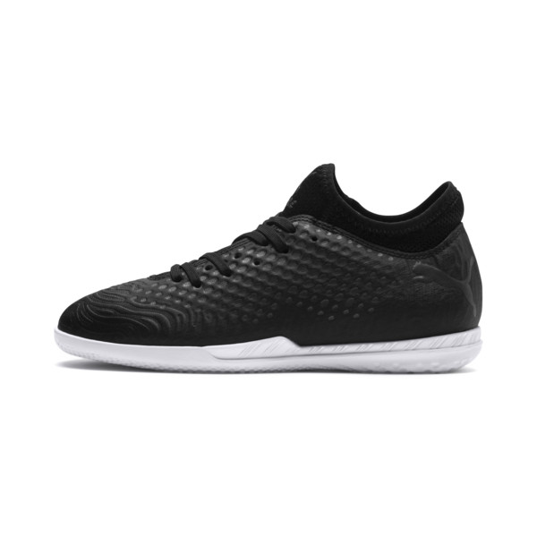 Zapatos de fútbol FUTURE 19.4 IT para JR, Puma Black-Puma Black-White, grande