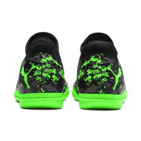 Thumbnail 3 of FUTURE 19.4 IT Soccer Shoes JR, Black-Gray-Green Gecko, medium