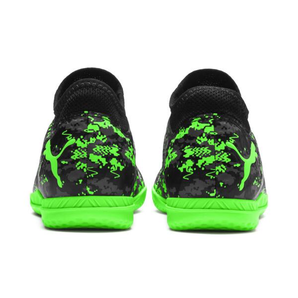 FUTURE 19.4 IT Soccer Shoes JR, Black-Gray-Green Gecko, large
