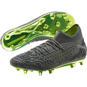 Thumbnail 2 of FUTURE 19.1 Limited Edition FG/AG Men's Football Boots, Puma Aged Silver-Gray-Yellow, medium
