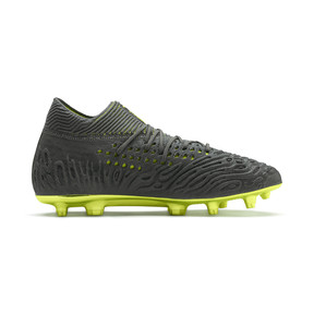 Thumbnail 5 of FUTURE 19.1 Limited Edition FG/AG Men's Football Boots, Puma Aged Silver-Gray-Yellow, medium