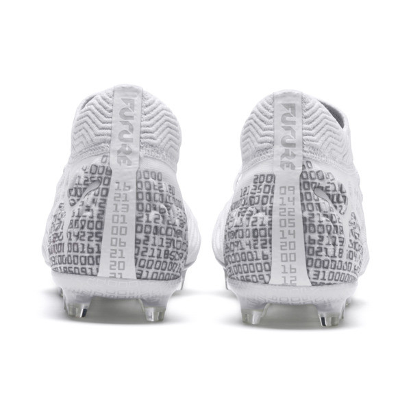 FUTURE 19.1 Ltd. Ed. FG/AG Men's Soccer Cleats, White-Silver-Gray Violet, large