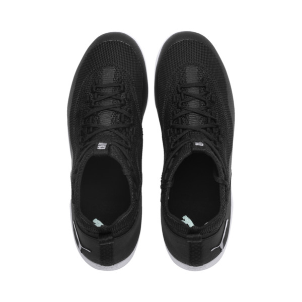365 IGNITE Fuse E1 Men's Soccer Shoes, Black-Asphalt-Puma White, large