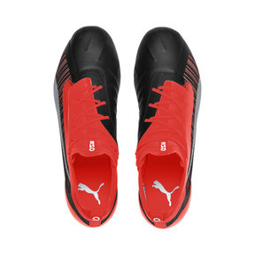 Thumbnail 7 of PUMA ONE 5.1 FG/AG Men's Soccer Cleats, Black-Nrgy Red-Aged Silver, medium