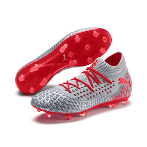 Thumbnail 3 of FUTURE 4.1 NETFIT FG/AG Men's Soccer Cleats, Blue-Nrgy Red-High Risk Red, medium