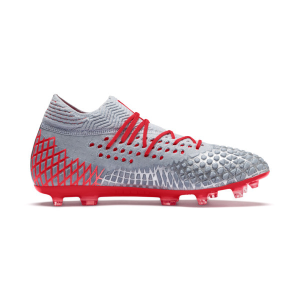FUTURE 4.1 NETFIT FG/AG Men's Soccer Cleats, Blue-Nrgy Red-High Risk Red, large