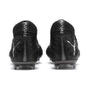 Thumbnail 4 of FUTURE 4.1 NETFIT FG/AG Men's Soccer Cleats, Black-Black-Puma Aged Silver, medium
