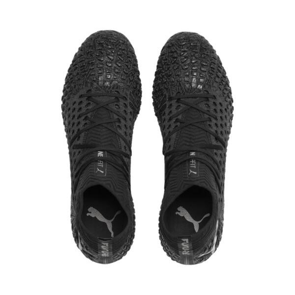 FUTURE 4.1 NETFIT FG/AG Men's Soccer Cleats, Black-Black-Puma Aged Silver, large