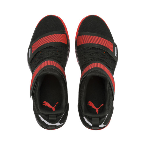 Rise XT3 NETFIT Trainers, Puma Black-Silver-Nrgy Red, large