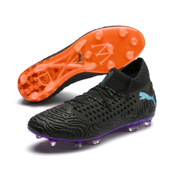 FUTURE 19.1 MVP FG/AG Men's Soccer Cleats, Black-cari sea-purple-orange, large
