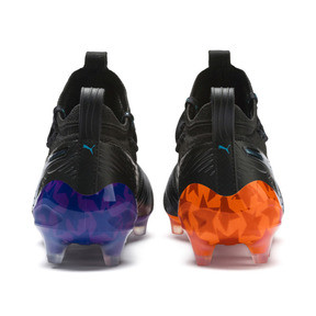 Thumbnail 3 of PUMA ONE 19.1 MVP FG/AG Men's Soccer Cleats, Black-cari sea-purple-orange, medium