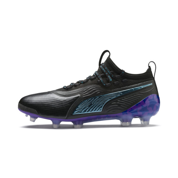 PUMA ONE 19.1 MVP FG/AG Herren Fußballschuhe, Black-cari sea-purple-orange, large